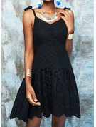 Solid Backless A-line Sleeveless Mini Little Black Casual Skater Type Dresses