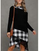 Carouri Bir Çizgi Mâneci Lungi Asimetrik gündelik Moda Elbiseler
