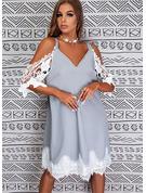 シフトドレス 3/4袖 ミディ カジュアル チュニック ファッションドレス