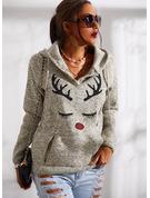 Animalske Udskriv Lange ærmer Jule sweatshirt