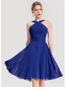 A-linjeklänning Ärmlös Midi Romantiskt Sexig Modeklänningar