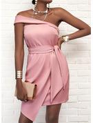 Jednolity Pokrowiec Bez Rękawów Asymetryczny Elegancki Modne Suknie