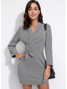 Print Bodycon Lange ærmer Mini Casual Mode kjoler