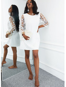 Sólido Vestidos sueltos Mangas 3/4 Mini Casual Túnica Vestidos de moda