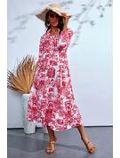 Print Kjole med A-linje Lange ærmer Maxi Casual skater Mode kjoler