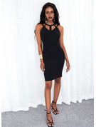 Solid Sheath Sleeveless Mini Little Black Casual Dresses