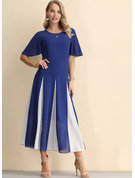 Color Block Stripe A-line kjole Kortermer Midi Lille svarte Party Elegant skater Motekjoler
