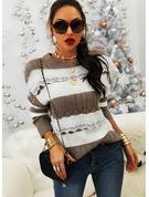 Rundhalsausschnitt Lässige Kleidung Spitze Farbblock Pullover