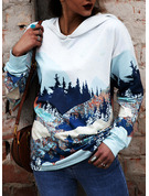 Print Forest Long Sleeves Hoodie