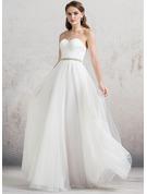 Vestidos princesa/ Formato A Amada Longos Tule Vestido de noiva com Pregueado Beading