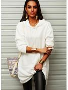 Einfarbig Etuikleider Lange Ärmel Midi Lässige Kleidung Pullover Modekleider