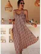 Floral Print Shift Sleeveless Maxi Casual Vacation Dresses