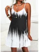 Impresión Degradada Vestido línea A Sin mangas Mini Casual Vacaciones Patinador Tipo Vestidos de moda