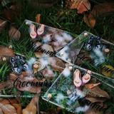 Невеста Подарки - нежный картона бумаги акрил Свадебная открытка