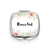 Bridesmaid Gifts - Personalized Classic Eye-catching Stainless Steel Compact Mirror