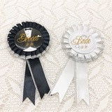 Groom Gaver - Elegant Satin Badge Foto rekvisitter