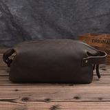 Groom Lahjat - Vintage Nahka Dopp Kit laukku
