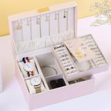 - Fascinante Delicado pu Caixa de jóias Porta jóias