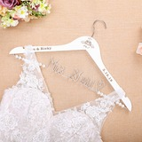 Bride Gifts - Personalized Beautiful Wooden Hanger