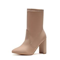 Donna Similpelle Tacco spesso Stiletto Stivali Stivali altezza media con Altrui scarpe