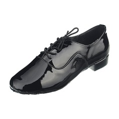 Men's Leatherette Heels Latin Modern Ballroom Dance Shoes