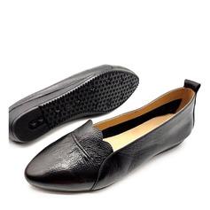 Femmes Vrai cuir Chaussures plates أحذية