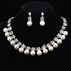 Gorgeous Alloy/Pearl With Rhinestone Ladies' Jewelry Sets
