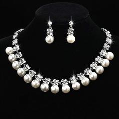 Nydelig Legering/Perle med Rhinestone Damene ' Smykker Sett