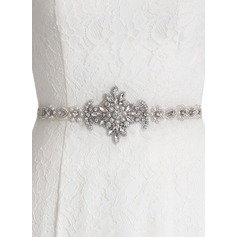 Schöne Satin Schleifenbänder/Stoffgürtel mit Strasssteine/Faux-Perlen