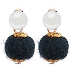 Mode Fauxen Pärla koppar med Oäkta Pearl Kvinnor Mode örhängen (Set av 2)