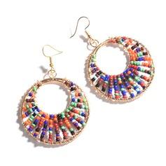 Legierung Perlen Frauen Art-Ohrringe