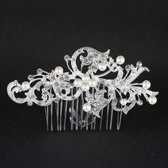 Ladies Gorgeous Alloy Combs & Barrettes With Rhinestone/Venetian Pearl (Sold in single piece)