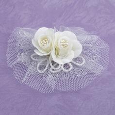 Beau Tulle Chapeaux de type fascinator/Fleurs et plumes