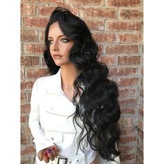 4A Nicht remy Wellig Menschliches Haar Volle Spitze Perücken