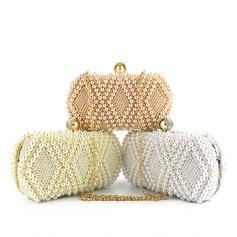 De moda Perla Bolso Claqué