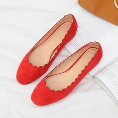 Frauen Wildleder Flascher Absatz Flache Schuhe