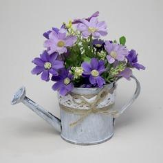 Elegant Kettle Shaped Metal Vases