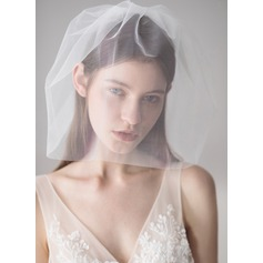 One-tier Cut Edge Birdcage Veils