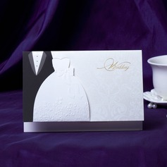 Bride & Groom Stil Top Fold Invitation Cards  (118031584)