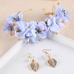 Moda Liga/Flor de seda Tiaras (Conjunto de 2)
