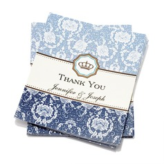 Персонализированные цветочный Стиль Спасибо карты (набор из 50)