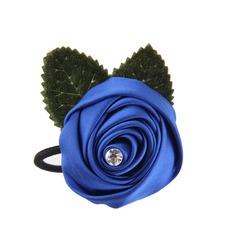 Satin hodeplagg Flower (som selges i et enkelt stykke) - hodeplagg Flower