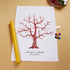 Personlig Bruna Träd Duk Heminredning/Fingeravtryck målning