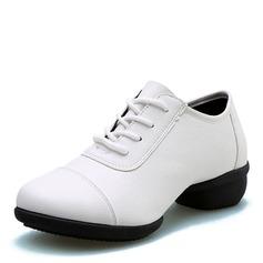 Women's Microfiber Leather Heels Modern Dance Shoes