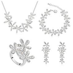 Ladies ' Artystyczny Stop/Platinum Plated Z Diament Austriacki kryształ Zestawy biżuterii Ją/Druhna