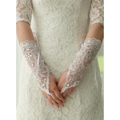 Blonder Elbow Længde Brude Handsker