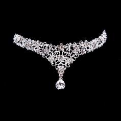 Bonito Liga A testa de jóias com Strass/Cristal