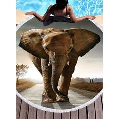 Elefant rund/attraktiv handduk