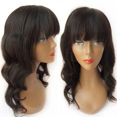 Kroppsvåg Human Hair Parykar Hel-spets