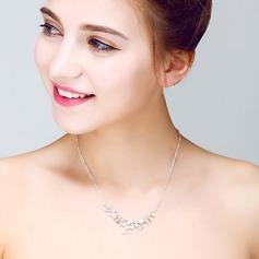 Attraktiv Legierung/Perle/Kristall Damen Halsketten